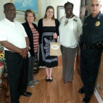 Richlands Chamber Cuddle visit with H.Donald Scott CPA; joined with us the Mayor and Chief of Police