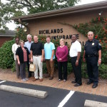 Richlands Chamber of Commerce Cuddle visit with Richlands Insurance; joined with Mayor Smith and Chief Lindig